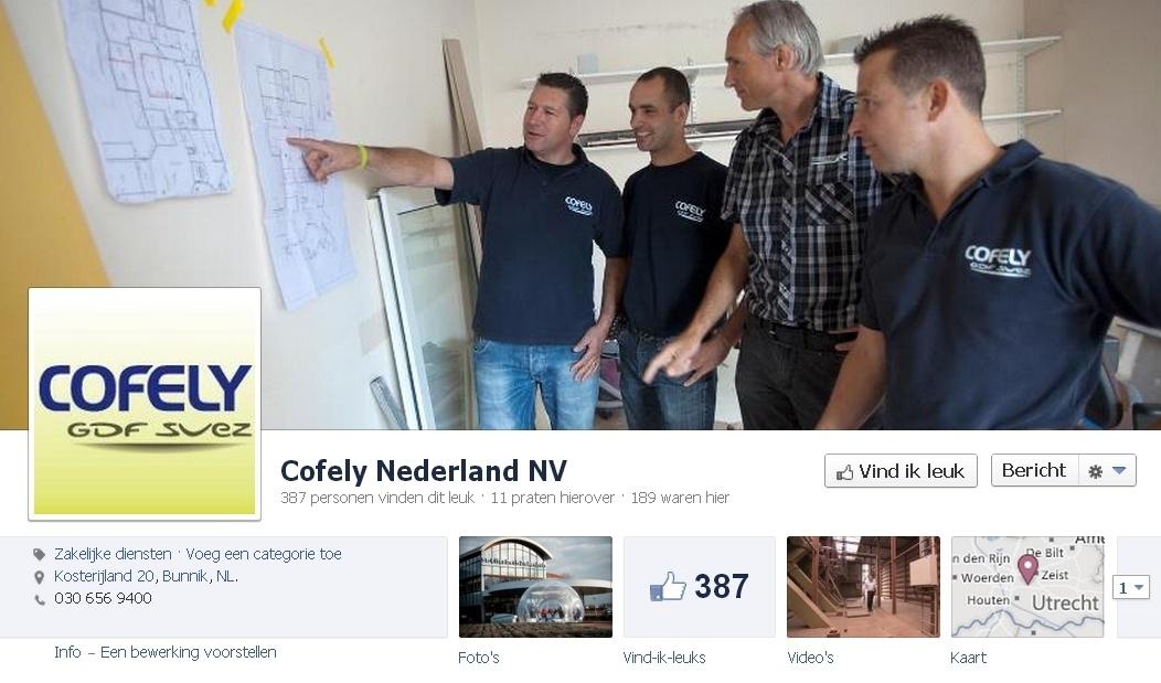 B2B Facebook Pagina: Cofely Nederland