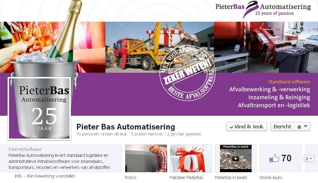 B2B Facebook Pagina: Pieter Bas