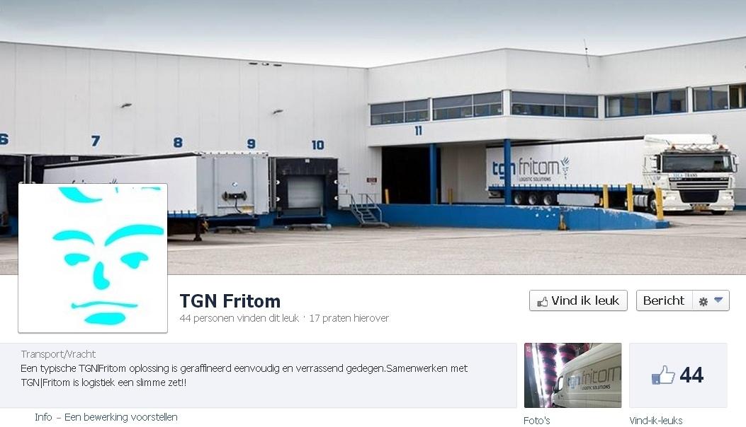 B2B Facebook Pagina: TGN Fritom