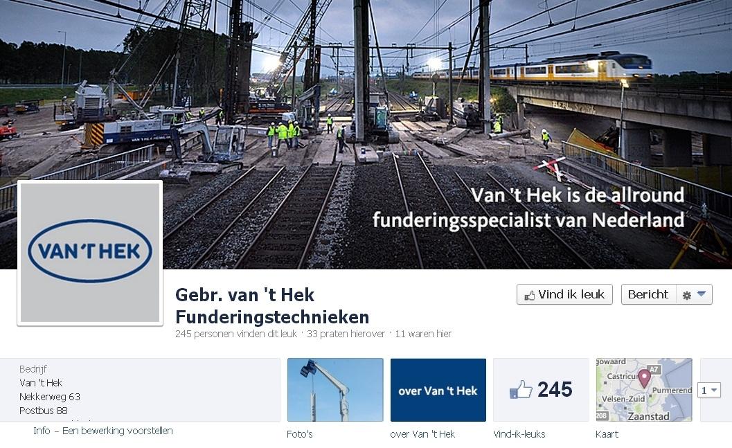 B2B Facebook Pagina: Vant Hek