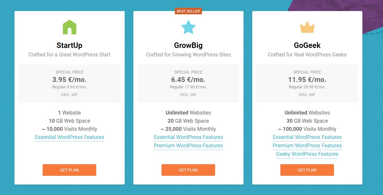 siteground pakketten