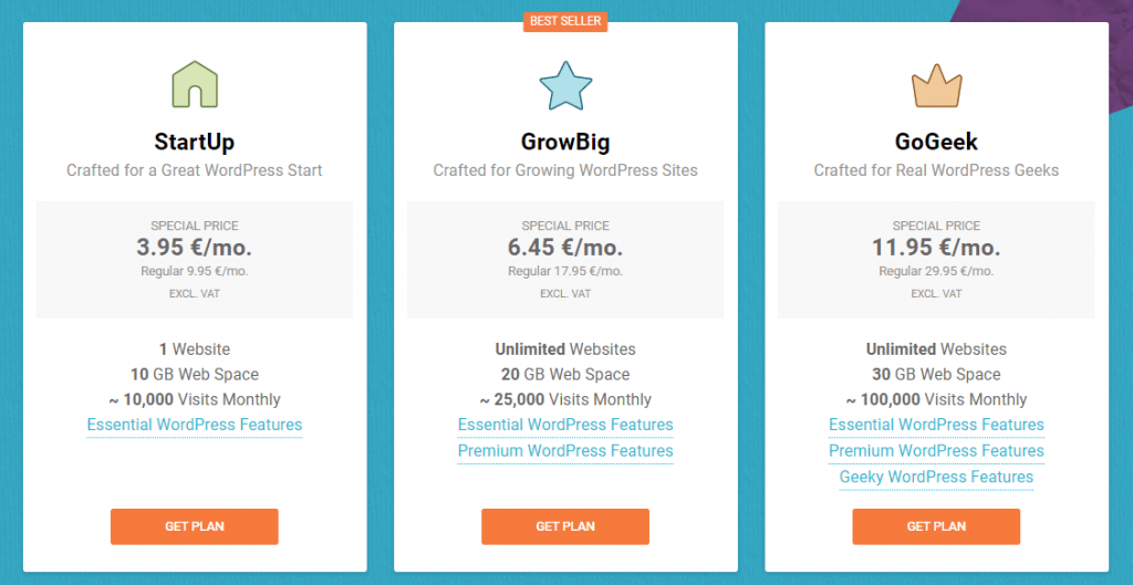 beste wordpress hosting siteground